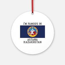 Famous In Kazakhstan Ornament (Round)