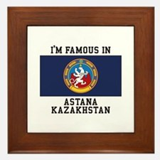 Famous In Kazakhstan Framed Tile