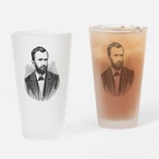 Ulysses S. Grant Illustrative Portr Drinking Glass