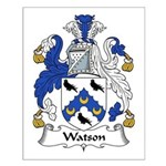 Watson Family Crest Small Poster