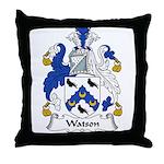 Watson Family Crest Throw Pillow