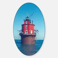 Wolf Trap Lighthouse Sticker (Oval)