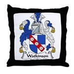 Watkinson Family Crest Throw Pillow