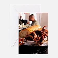 BBQ Beef Brisket Sandwich Greeting Card