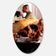 BBQ Beef Brisket Sandwich Decal