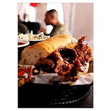 BBQ Beef Brisket Sandwich Poster