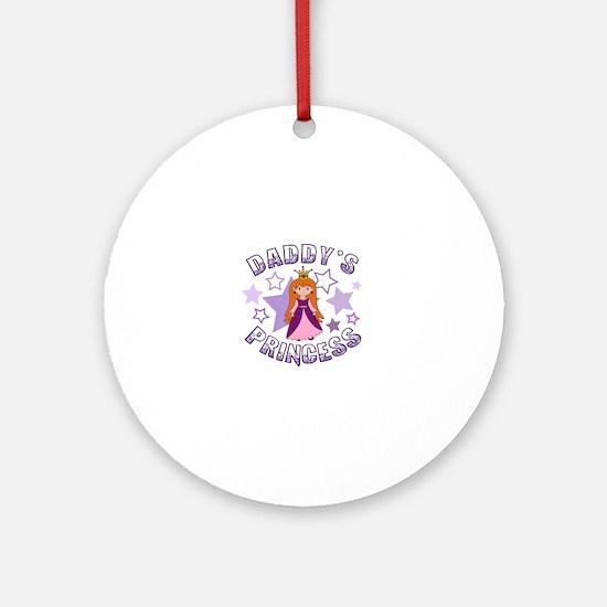 Daddy's Princess Round Ornament