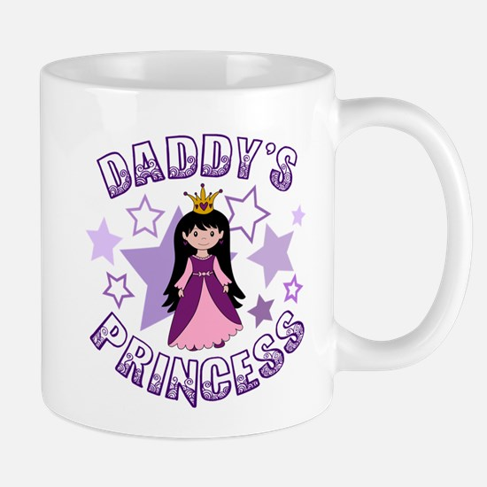 Daddy's Princess (Lt Skin / Black Hair) Mugs