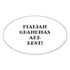 Italian Grandmas Oval Decal