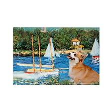 Monet's Sailboats Rectangle Magnet