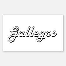 Gallegos surname classic design Decal