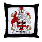 Waterton Family Crest Throw Pillow