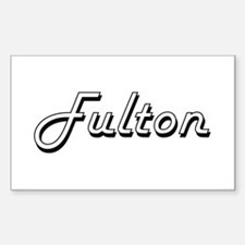 Fulton surname classic design Decal