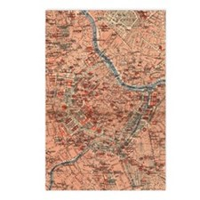 Vintage Map of Vienna Aus Postcards (Package of 8)