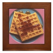 Waffles With Syrup Framed Tile