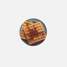 Waffles With Syrup Mini Button