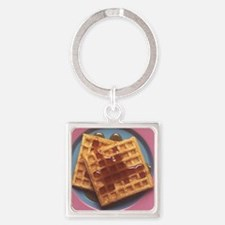 Waffles With Syrup Square Keychain