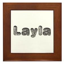 Layla Wolf Framed Tile