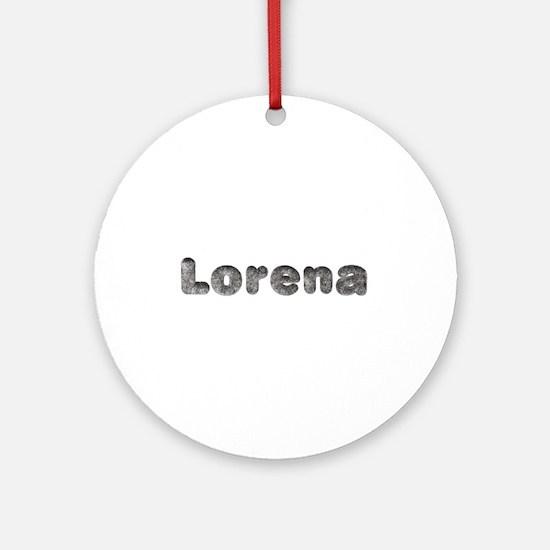 Lorena Wolf Round Ornament
