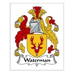 Waterman Family Crest Small Poster