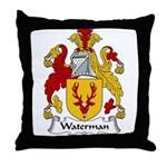 Waterman Family Crest Throw Pillow