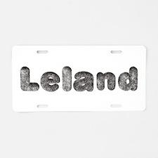 Leland Wolf Aluminum License Plate
