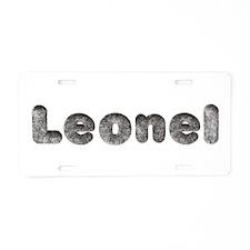 Leonel Wolf Aluminum License Plate