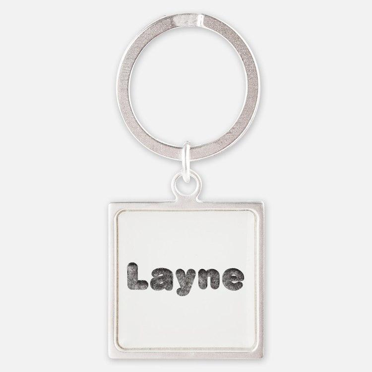 Layne Wolf Square Keychain