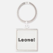 Leonel Wolf Square Keychain