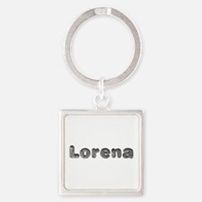 Lorena Wolf Square Keychain