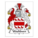 Washburn Family Crest Small Poster