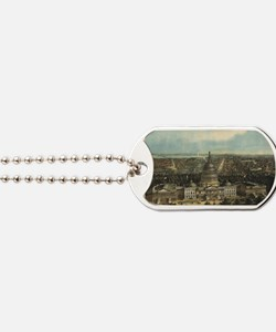 Vintage Pictorial Map of Washington D.C.  Dog Tags