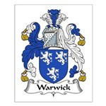 Warwick Family Crest Small Poster
