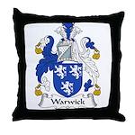 Warwick Family Crest Throw Pillow
