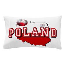 Polish Flag Map Pillow Case