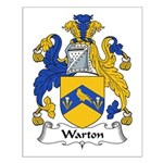 Warton Family Crest Small Poster