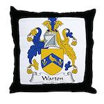 Warton Family Crest Throw Pillow