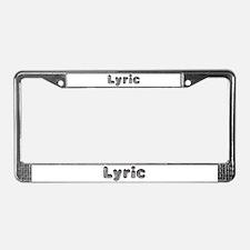 Lyric Wolf License Plate Frame