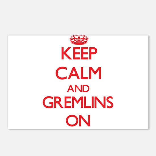 Keep Calm and Gremlins ON Postcards (Package of 8)