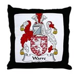 Warre Family Crest Throw Pillow