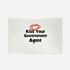 Kiss Your Government Agent Rectangle Magnet