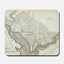 Vintage Map of Washington D.C. (1794) Mousepad