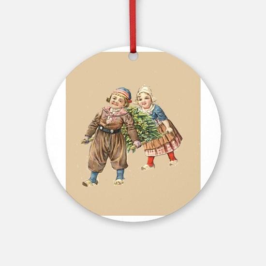 Dutch Christmas Ornament (Round)