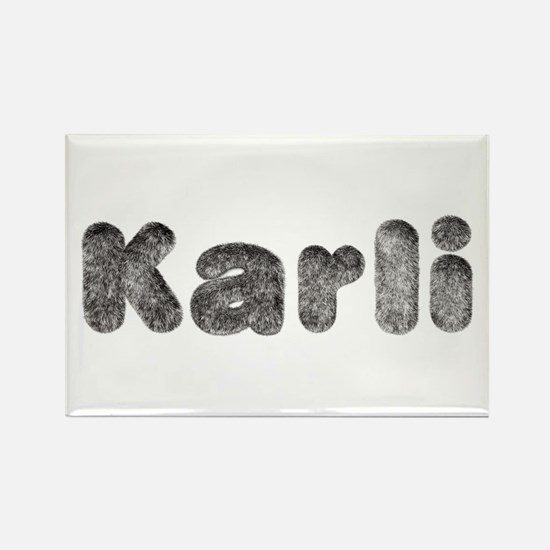 Karli Wolf Rectangle Magnet