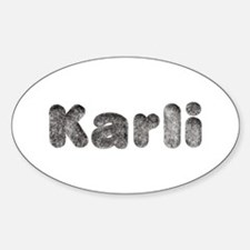 Karli Wolf Oval Decal