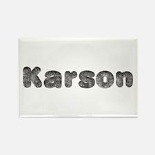Karson Wolf Rectangle Magnet