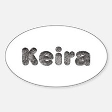 Keira Wolf Oval Decal