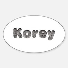 Korey Wolf Oval Decal