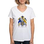 Ware Family Crest Women's V-Neck T-Shirt
