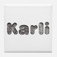 Karli Wolf Tile Coaster